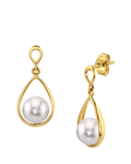 Japanese Akoya Pearl Jess Earrings - Model Image