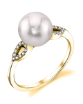Akoya Pearl & Diamond Callie Ring - Third Image