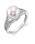 Akoya Pearl & Diamond Robbi Ring