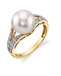 Akoya Pearl & Diamond Robbi Ring - Model Image