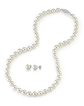 6.0-6.5mm Japanese Akoya Pearl Necklace & Earrings