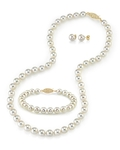 7.5-8.0mm Japanese Akoya White Pearl Set - Third Image