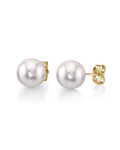 7.5-8.0mm White Akoya Pearl Stud Earrings - Third Image