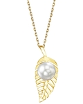 White South Sea Pearl Leaf Pendant - Third Image