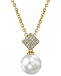South Sea Pearl & Diamond Lizzie Pendant - Model Image
