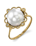 White South Sea Pearl Lea Ring - Secondary Image