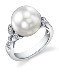 White South Sea Pearl Ariella Ring