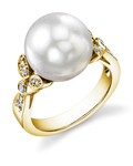 White South Sea Pearl Ariella Ring - Model Image