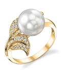 South Sea Pearl & Diamond Eva Ring - Secondary Image