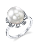 South Sea Pearl & Diamond Miley Ring