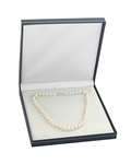 10-11mm White Freshwater Pearl Necklace- AAAA Quality - Third Image