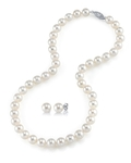 9-10mm Freshwater Pearl Necklace & Earrings