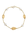 14K Gold Freshwater Pearl Mikayla Tincup Bracelet - Model Image