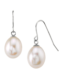 14K Gold Drop-Shape Freshwater Pearl Iris Earrings