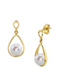 Freshwater Pearl Jess Earrings - Model Image
