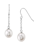 14K Gold Drop-Shape Freshwater Pearl Lila Tincup Earrings
