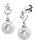 Freshwater Pearl & Diamond Symphony Earrings