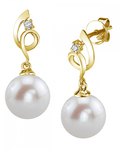 Freshwater Pearl & Diamond Symphony Earrings - Third Image