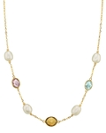 14K Gold Drop-Shape White Freshwater Pearl Tincup Alana Necklace - Secondary Image