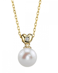 Freshwater Pearl & Diamond Lev Pendant - Secondary Image
