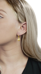 Golden South Sea Pearl Mary Earrings - Model Image