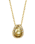 Golden South Sea Pearl & Diamond Marlo Pendant