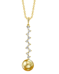 Golden South Sea Pearl & Diamond Naomi Pendant