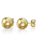 11mm Golden South Sea Pearl Stud Earrings- Choose Your Quality