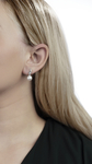 Freshwater Pearl & Diamond Lois Earrings - Model Image