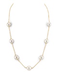 14K Gold Freshwater Baroque Pearl Lola Necklace - Model Image