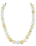 9-11mm South Sea Multicolor Baroque Pearl Necklace