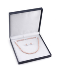 8-9mm Pink Freshwater Pearl Necklace & Earrings - Fourth Image
