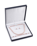 7-8mm Pink Freshwater Pearl Necklace, Bracelet & Earrings - Third Image