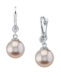 Pink Freshwater Pearl & Diamond Michelle Earrings