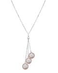 14K Gold Pink Freshwater Pearl Tincup Cluster Pendant