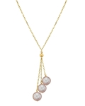 14K Gold Pink Freshwater Pearl Tincup Cluster Pendant - Model Image