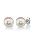 8mm White Freshwater Pearl Stud Earrings