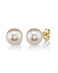 8mm White Freshwater Pearl Stud Earrings - Third Image