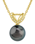 Tahitian South Sea Pearl & Diamond Belissima Pendant - Secondary Image