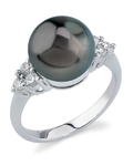 Tahitian South Sea Pearl & Diamond Sea Breeze Ring
