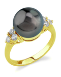 Tahitian South Sea Pearl & Diamond Sea Breeze Ring - Model Image