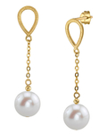 14K Gold Freshwater Pearl Vera Tincup Earrings - Secondary Image
