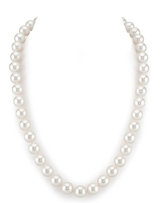 10-11mm White Freshwater Pearl Necklace- AAAA Quality
