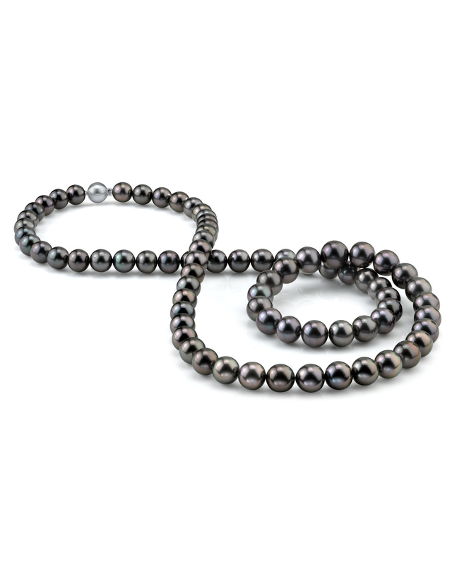 Opera Length 8-9mm Tahitian South Sea Pearl Necklace - AAAA Quality