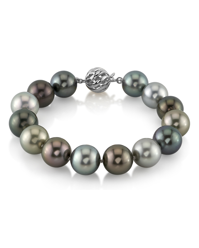 11-12mm Tahitian South Sea Multicolor Pearl Bracelet- AAAA Quality
