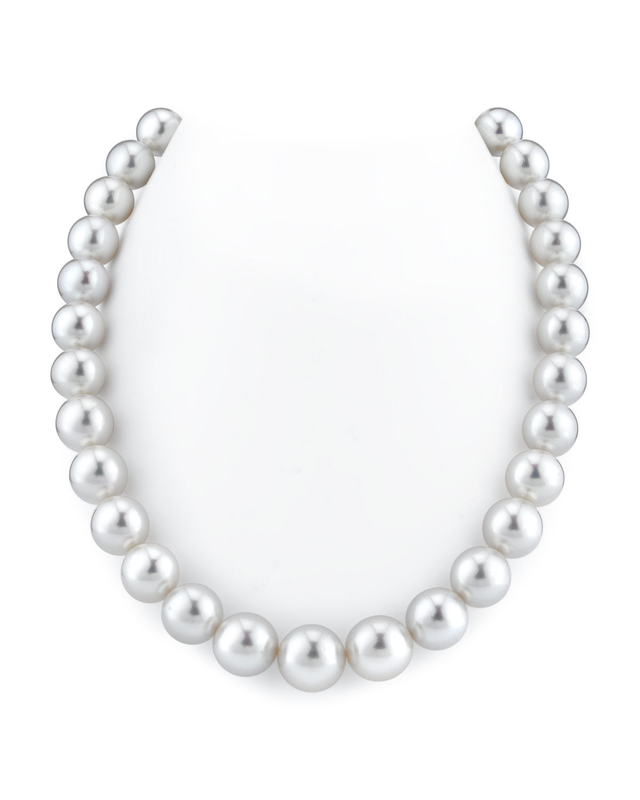 12-15mm White South Sea Pearl Necklace - VENUS CERTIFIED AAAA Quality
