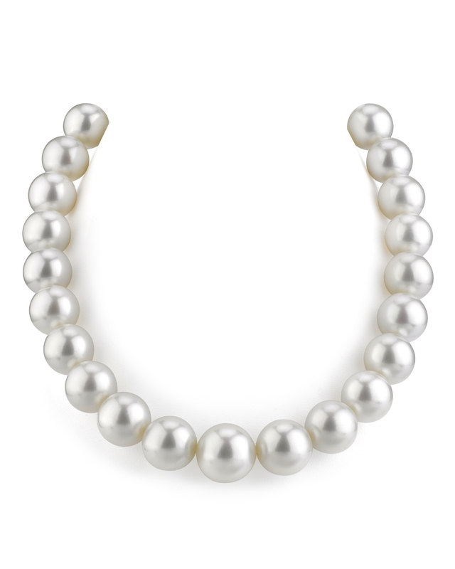 14-15mm White South Sea Pearl Necklace - AAAA Quality