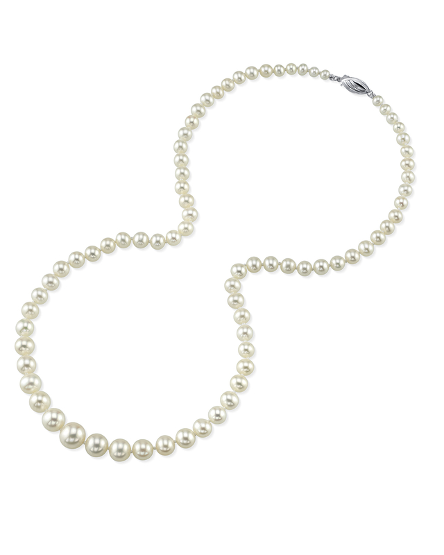 4.0-8.0mm White Freshwater Pearl Necklace