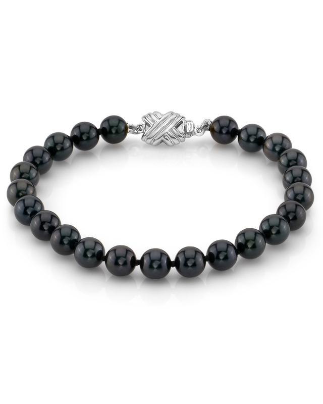 6.0-6.5mm Akoya Black Pearl Bracelet- Choose Your Quality