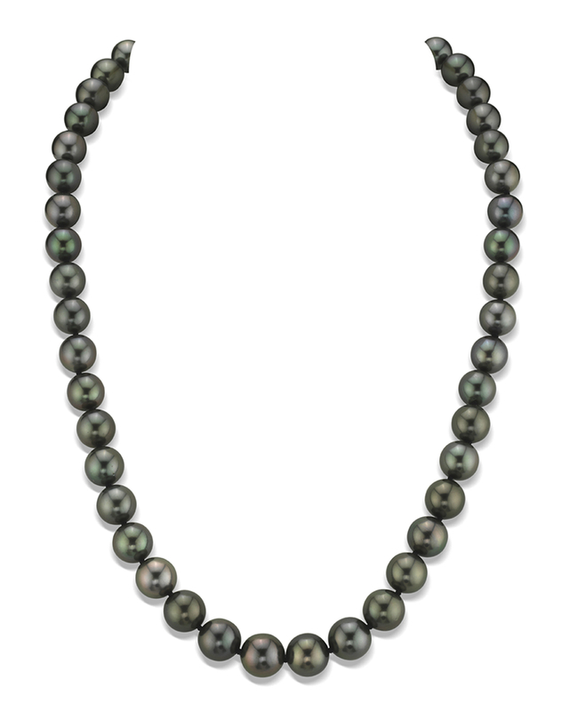 8-10mm Tahitian Round South Sea Pearl Necklace - AAA Quality
